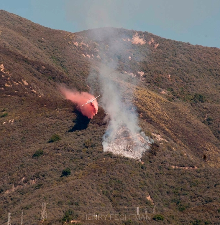 The fire, taken from Las Alturas Rd. by Henry L. Fechtman.